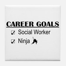 Social Worker Career Goals Tile Coaster