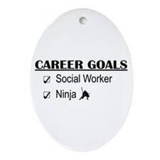 Social Worker Career Goals Oval Ornament