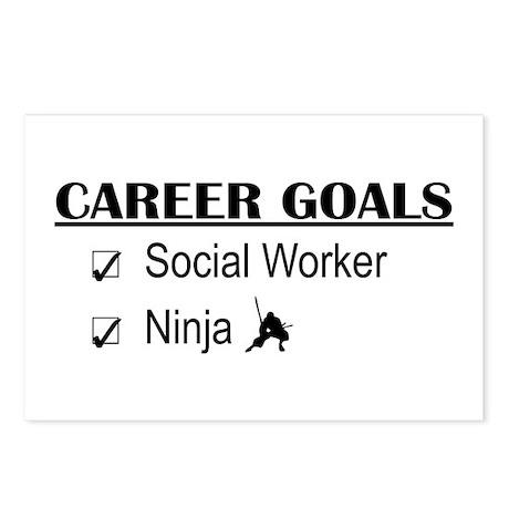 Social Worker Career Goals Postcards (Package of 8