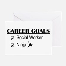 Social Worker Career Goals Greeting Cards (Pk of 1