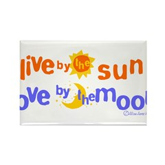 Love by the Moon Rectangle Magnet