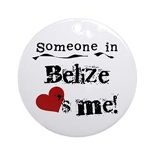 Belize Loves Me Ornament (Round)