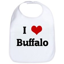I Love Buffalo Bib
