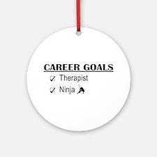 Therapist Career Goals Ornament (Round)