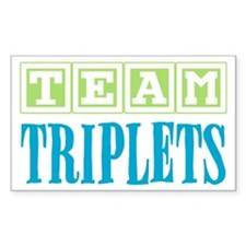 Team Triplets Rectangle Decal