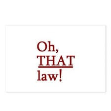"""""""Oh, THAT law!"""" Postcards (Package of 8)"""
