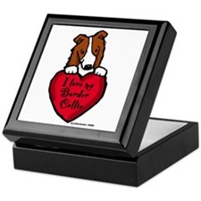 Border Collie (red) Love Keepsake Box