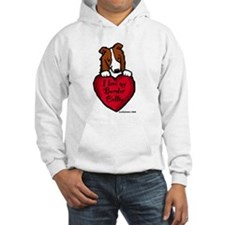 Border Collie (red) Love Hoodie