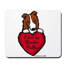 Border Collie (red) Love Mousepad