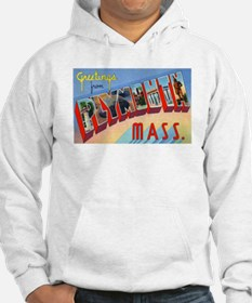Plymouth Massachusetts Greetings (Front) Hoodie
