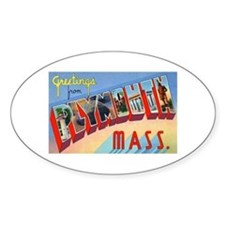 Plymouth Massachusetts Greetings Oval Decal