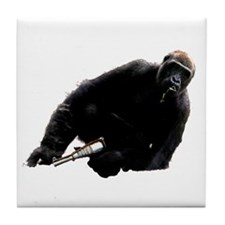 Gun monkey Tile Coaster