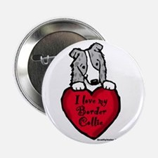 "Border Collie (blue merle) Love 2.25"" Button"