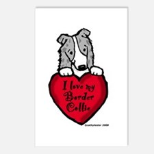 Border Collie (blue merle) Love Postcards (Package
