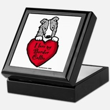 Border Collie (blue merle) Love Keepsake Box