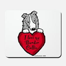 Border Collie (blue merle) Love Mousepad