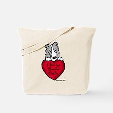 Border Collie (blue merle) Love Tote Bag