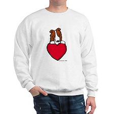Red Border Collie Valentine Sweatshirt