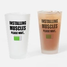 Installing Muscles Please Wait Drinking Glass
