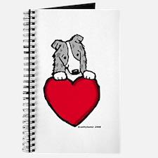 Blue Merle Border Collie Valentine Journal