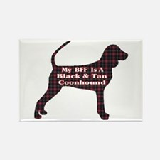 BFF Black and Tan Coonhound Rectangle Magnet (10 p