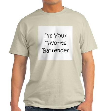 Favorite Bartender Light T-Shirt