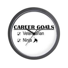 Veterinarian Career Goals Wall Clock