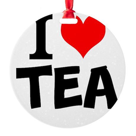 I Love Tea Ornament