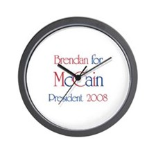 Brendan for McCain 2008 Wall Clock