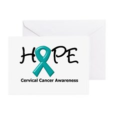 Hope Cervical Cancer Greeting Cards (Pk of 10)