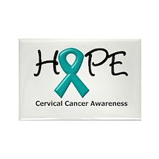 Hope Cervical Cancer Rectangle Magnet