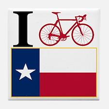 I BIKE Texas! Tile Coaster