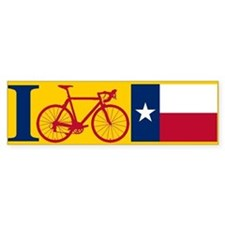 I BIKE Texas! Bumper Car Sticker