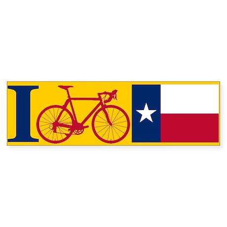 I BIKE Texas! Bumper Sticker