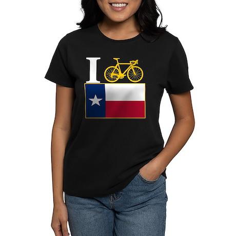 I BIKE Texas! Women's Dark T-Shirt