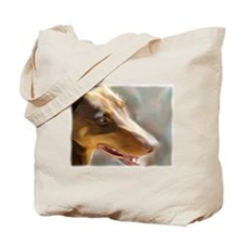 Cute Red doberman Tote Bag