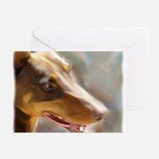 Cool Red doberman Greeting Cards (Pk of 10)