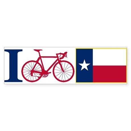 I BIKE Texas! Bumper Sticker