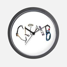 Climb Graffiti Wall Clock