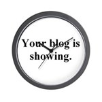 Your blog is showing! Wall Clock