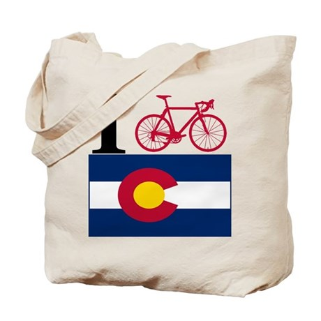 I BIKE Colorado Tote Bag