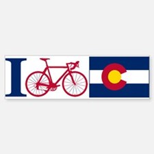 I BIKE Colorado Bumper Bumper Bumper Sticker