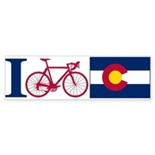 I BIKE Colorado Bumper Bumper Sticker