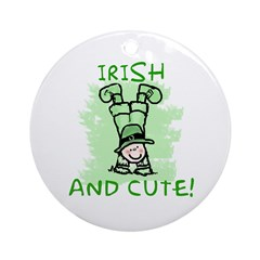Irish and Cute for Kids Ornament (Round)