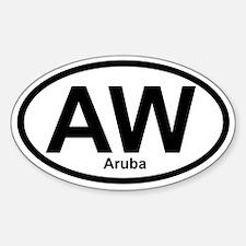 AW Aruba Oval Decal