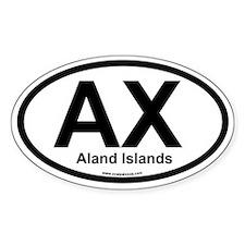 AX Aland Islands Oval Bumper Stickers