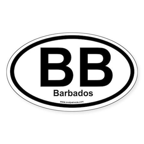 BB Barbados Oval Sticker
