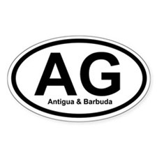 AG Antigua & Barbuda Oval Decal