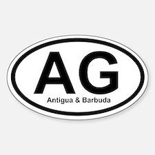 AG Antigua & Barbuda Oval Decal