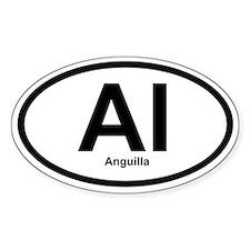 AI Anguilla Oval Bumper Stickers